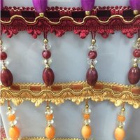 beads for curtains - Sofa Curtain Fringe Tassel Lace Beads Carpet Garment Polyester Fringe Tassel Lace with M bag Packing for Hometextiles SHF009