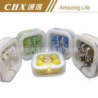 Wholesale In Ear Headset Plastic Waterproof Headphone Telescopic Cloth Rope Shoelace Metal Luminous Zipper Cartoon Small Earphone AA