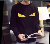 Wholesale fashion men t shirts eyes t shirt for men cotton tshirt long sleeve casual t shirt men tag label