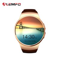 android digital clock - 2016 LEMFO W18 Smart Watch Digital Smartwatch Bluetooth Reloj Inteligente SIM Round Heart Rate Monitor Clock Full IPS Screen