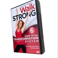 Wholesale New Jessica Smith Walk Strong Week Total Transformation System Workout Fitness dvds Disc Set Fitness Videos workout fitness dvd
