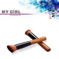 angled paint brush - Angled Makeup Brush Beginner Powder Paint Blush Brush Synthetic Fifber Face Cosmetic Brush Tool