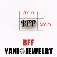 bff charms - Best Friend Forever BFF Charms Pendants Alloy Letter Floating Locket Charms for Bracelet Glass Locket Necklaces