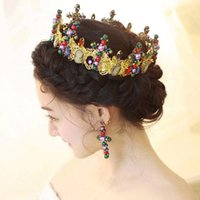 baroque times - 2016 Bridal Hair Accessories Baroque retro styling long hair accessories bridal headdress plating color retention time