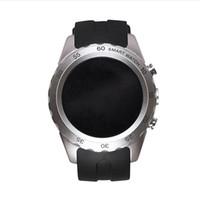 al por mayor cuadros por segundo-Moda Bluetooth reloj de pulsera elegante teléfono KW08 ritmo cardíaco marco de varios colores libre conmutador reloj cara 1.22 pulgadas de pantalla redonda