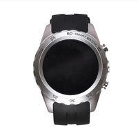achat en gros de frame rate-Mode Bluetooth Smart Wrist Watch Téléphone KW08 Fréquence cardiaque multi-couleur cadre libre commutable horloge face 1,22 pouces rond affichage