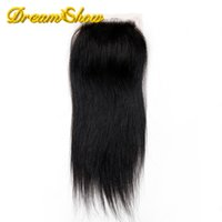 Wholesale DHL Free A Cheap Silk Base Closure Straight Brazilian Viirgin Human Hair Closure Silk Top Lace Closures With Baby Hair Middle
