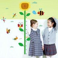 Etiqueta engomada decorativa de la pared de la etiqueta engomada de la pared de la altura de los niños de la mariposa y de la abeja DIY para el papel de empapelar casero de la decoración 50 * 70CM tamaño 1pc / opp