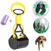 Wholesale Pet Dog Cat Waste Pooper Scooper Excavator Poo Grabber Pick Dung Garden Waste Cleanup