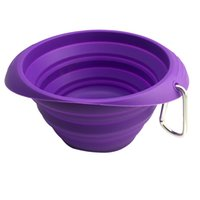 Wholesale Brand New Silicon Pet Dog Expandable Collapsible Foldable Travel Bowl Dish Feeder dog bowls Food Grade Silicon Pet Bowls for Outdoors