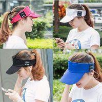 baseballs speaker - 4 Colors Wireless Bluetooth Baseball Cap Sun Hat Smart Wireless Hands Free Bluetooth Headset Sports Cap Music Speaker Mic Cap CCA4882