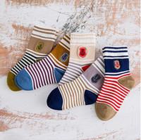 anchor socks - Cheap Kids socks Colorful Anchor thick Boneless children baby socks Fall winter fashion boys girls cotton combed socks gifts