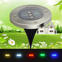Wholesale 3 Led Waterproof Buried Light Solar Powered Landscape Lighting Underground Light Outdoor Solar Lamp Garden decoration