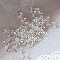 Precio de Las cabezas de flor clips-Crystal Rhinestone peines de pelo flor pinzas de pelo para la boda de las mujeres joyería accesorios para el cabello nupcial peine chicas Headwear Head Stick