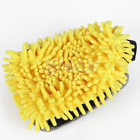 Wholesale Ultrafine Fiber Chenille Microfiber Car Wash Glove Mitt for Car Washer Cleaning Anthozoan Noodle