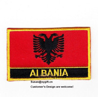 albania flag - Albania Flag Patches Iron on patches embroidery patches logo embroidery patches embroidery patches for clothing custom embroidery patches