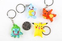 Wholesale Hot Sale Styles D Pocket Monster Keychain Silicon Keychains Moive Cartoon Key Ring For Christmas Gift