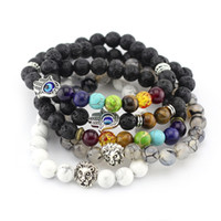 balance bracelet black - 2016 New Natural mm Black Lava Stone Bracelets Reiki Chakra Healing Balance Beads Bracelet for Men Women Stretch Yoga Jewery