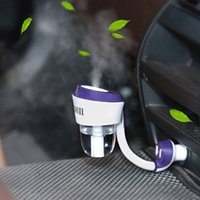 Wholesale 2016 Car Air Humidifier Aroma Diffuser Car Humidifier Aromatherapy Diffuser Mist maker Oil Diffuser Fogger with USB Hub USB Charge