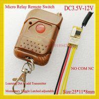 Wholesale RKE Remote Keyless Entery DC V V V V V V V V V V Micro Relay Mini Wireless Remote Control Switch Long Rang