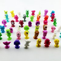 action figure collectors - 60pcs CM Ickee Stikeez Cartoon Animal Action Figures Toys Sucker Mini Suction Cup Collector Capsule Model Kids Gift Sucker toy B001