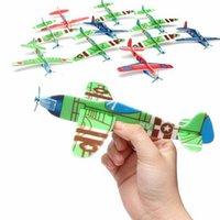 Revisiones Planeadores de bricolaje-Haga su propio planeador de espuma surtidos de energía Prop Flying Planeadores Planeadores Aviones del avión de aves para niños niños DIY Rompecabezas Juguetes