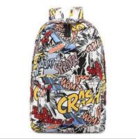 Wholesale CIKER new women canvas printing backpack fashion shoulder bag casual schoolbags mochila Men s backpacks Graffiti unisex rucksack