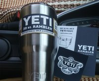 Wholesale New Brand Yeti Rambler Tumbler Cups Stainless Steel Double Layer oz oz with Lid