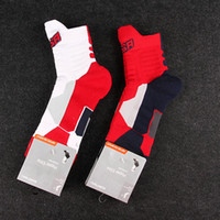 ankle terry socks - American Team Professional Basketball Socks for men Thick Towel Sports Socks White Red and Red Navy Available With High Quality