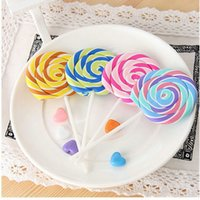 Wholesale Cute Emulational Sugar loaf Colorful Pencil Eraser Lollypop Creative Toy Study Rubber For Children Students School Promotional Gifts