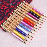 Wholesale 2016 New SW Luxury Gold foil with Oil Ballpoint Pen Writing Fluent Roller Ball Pens School Office Supplies