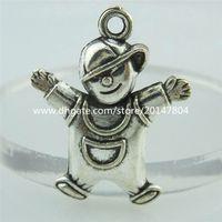 baby boy pendants - 14930 Alloy Antique Silver Vintage Cute Baby Boy Pendant Charm Jewelry
