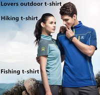 Men basketball sweatshirt designs - New lovers outdoor quick dry hiking t shirt collar design fishing clothing basketball jersey camping Tectop sweatshirt