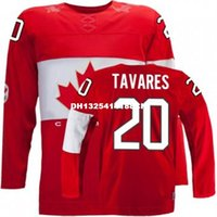 Cheap Retro throwback #20 JOHN TAVARES Team Canada Jersey OLYMPIC HOCKEY Fast free shipping Customize any size player name number