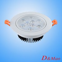 ac ceiling - White Warm White W5W7W9W Led Down Lights High Power Led Downlights Recessed Ceiling Lights AC V With Power Supply Indoor Lighting