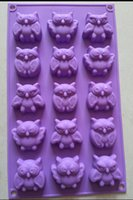 silicone soap molds - New owl Cake Mold Flexible Silicone Soap Mold For Handmade Soap Candle Candy bakeware baking moulds kitchen tools ice molds