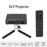 airplay games - Mini Portable Projector Palm sized DLP LED Projectors with Tripod HDP200 P HD TV Beamer Support Wifi Miracast AirPlay Home Theater Game