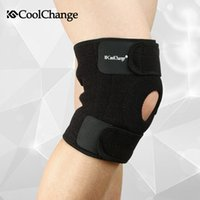 Wholesale CoolChange outdoor Sport equipment accessories basketball mountaineering exercise cycling high elastic Spring knee protector Double spring