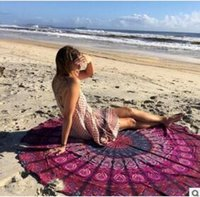 beautiful beach towels - new arrival beautiful Round Beach Towels Fire Peacock Mandala cm Beach Swim Towels Bohemia Style Bikini Covers