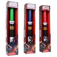 Wholesale Star Wars Anakin to Darth Vader Stretch Lightsaber Toy for Boys Children LED toy sword Flash Sword Red Blue green Color Sound
