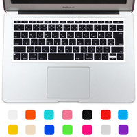 Wholesale New Japanese Alphabet Silicone JIP layout Keyboard Cover Film For Macbook Air pro retina keyboard Stickers