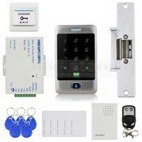 bells door lock - DIY KHz RFID Reader Password Keypad Strike Lock Door Bell Remote Control Door Access Control Security System Kit