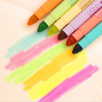 Wholesale Pieces Korean Stationery Cute Lovely Candy Color Stick Highlighters Student School Supply Color