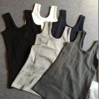 Wholesale Slimming Tank Top Mens Pure Cotton U shape Body Shaper Compression Vest Top Singlet Black White Gray