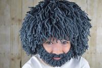 beard hat for kids - 2016 Winter Creative Beard Wig Tassel Hats Handmade Knit Warm Caps for Men Women Kids Halloween Wigs Beard Wool Hat Sale El sombrero