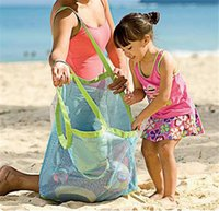 Wholesale Large Sand Away Beach Mesh Bag Children Beach Toys Clothes Towel Bags Baby Toy Collection Bag Beach Toys Mesh Bag