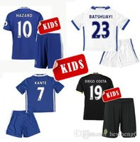 Wholesale Kids HAZARD Jersey Black Chelseaes FC Camisetas infantis KANTE DIEGO COSTA OSCAR Soccer Jersey Chelsea Youth football Sets