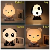 atmosphere tables - Lovely Cartoon Desk Lamp Panda Table Lamp Panda Night Light Baby Lamps Baby Nursery Bedside LED Lamp Atmosphere Night Light Christmas Gifts