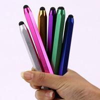 Wholesale 20pcs Stylus Pen Touch Pen Ball point Pen Writing Supplies Aluminum Alloy Metal in Multifunction Pens Papelaria