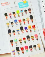 Wholesale New cute D soldier pvc sticker DIY Multifunction decoration stationery stickers label